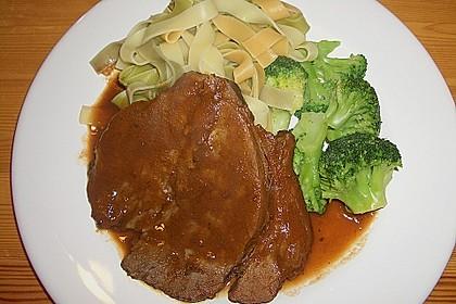 Rinderbraten mit würziger Rotweinsauce 2