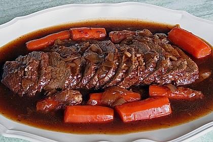 Rinderbraten mit würziger Rotweinsauce 1