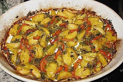 Mediterrane 24 h - Ofen - Kartoffelecken 9