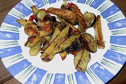 Mediterrane 24 h - Ofen - Kartoffelecken 3