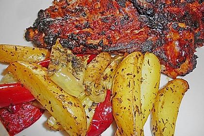 Mediterrane 24 h - Ofen - Kartoffelecken 12