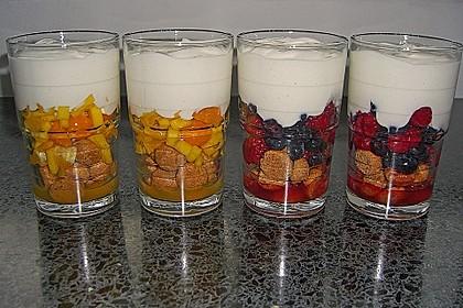 4 Schicht - Frucht - Joghurt - Dessert 5