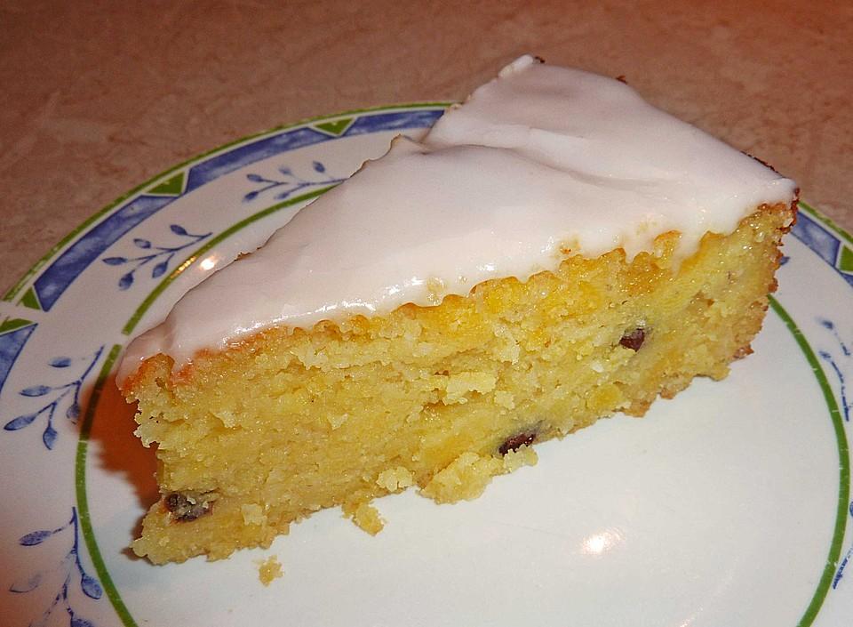 Kuchen mit rosinen und kokos