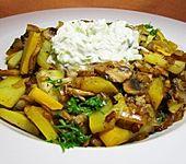Zucchini - Champignon - Pfanne