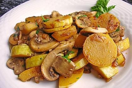 Zucchini - Champignon - Pfanne 2