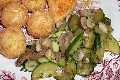 Zucchini - Champignon - Pfanne 6