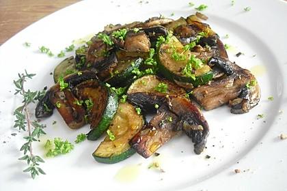 Zucchini - Champignon - Pfanne 7