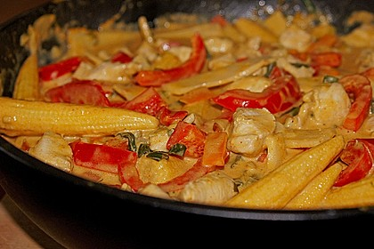 Schnelles Thai-Curry mit Huhn, Paprika und feiner Erdnussnote 50