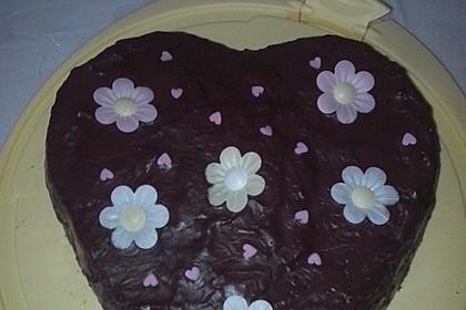 Rotweinkuchen für die Herzform 3