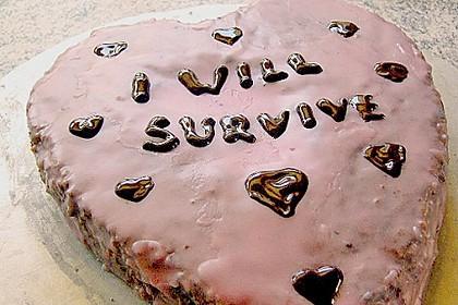 Rotweinkuchen für die Herzform 5