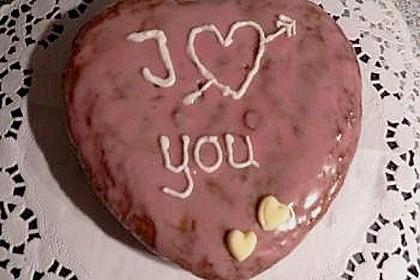 Rotweinkuchen für die Herzform 2