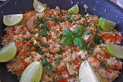 Khao Pat Gai / Gebratener Reis mit Huhn / Fried Rice with Chicken