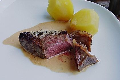 Steak in Pfeffersauce 5