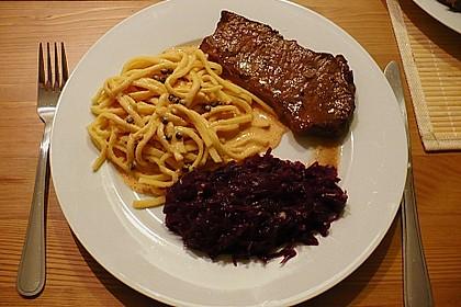 Steak in Pfeffersauce 18