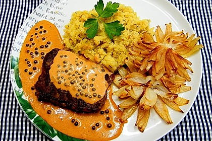 Steak in Pfeffersauce 1