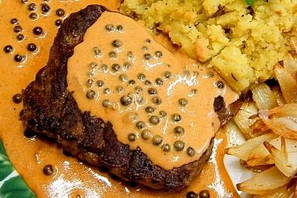 Steak in Pfeffersauce 7