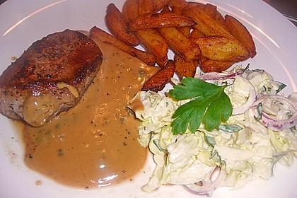 Steak in Pfeffersauce 9