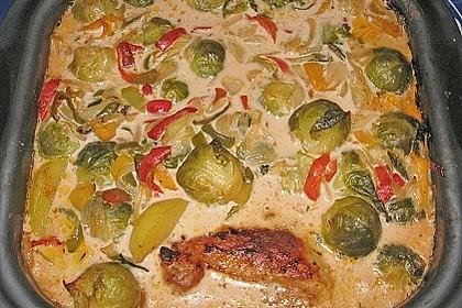Schweinefilet auf Gemüse und Kartoffeln 5