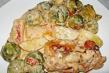 Schweinefilet auf Gemüse und Kartoffeln 9