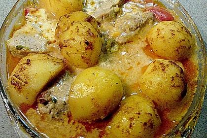 Schweinefilet auf Gemüse und Kartoffeln 20