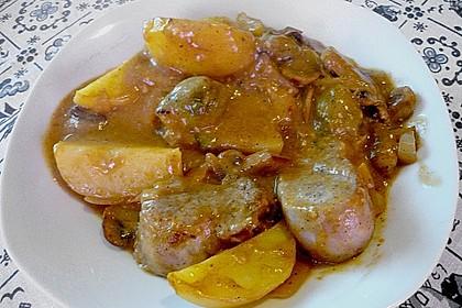 Schweinefilet auf Gemüse und Kartoffeln 21