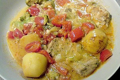 Schweinefilet auf Gemüse und Kartoffeln 15