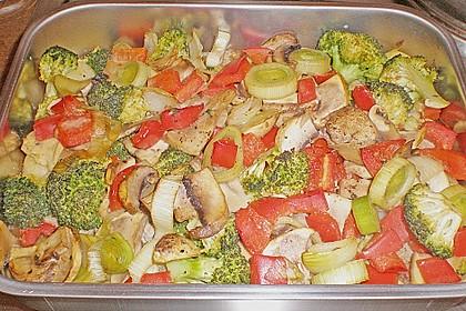 Schweinefilet auf Gemüse und Kartoffeln 22