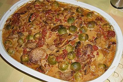 Schweinefilet auf Gemüse und Kartoffeln 3