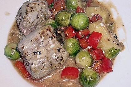 Schweinefilet auf Gemüse und Kartoffeln 7