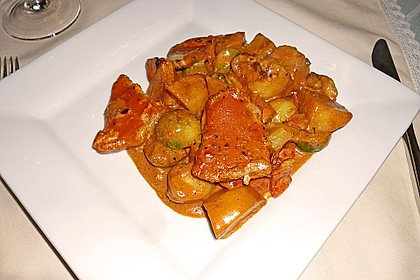 Schweinefilet auf Gemüse und Kartoffeln 1