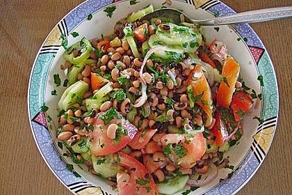 Salat aus Schwarzaugenbohnen 3