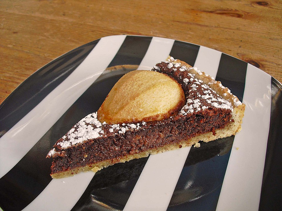 Tarte aux Poires et au chocolat (Rezept mit Bild