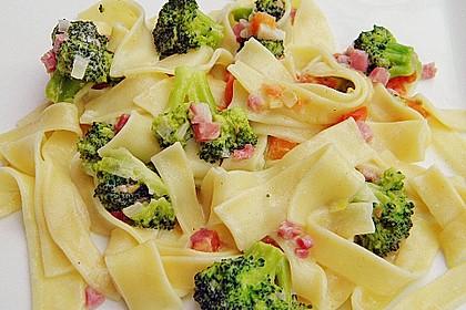 Brokkoli - Nudelpfanne mit Schinken 0