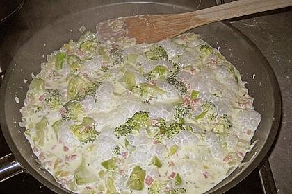 Brokkoli - Nudelpfanne mit Schinken 14