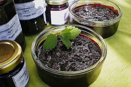 Heidelbeer - Apfel - Konfitüre mit Zimt 1
