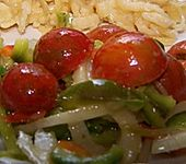 Tomaten - Paprika Salat