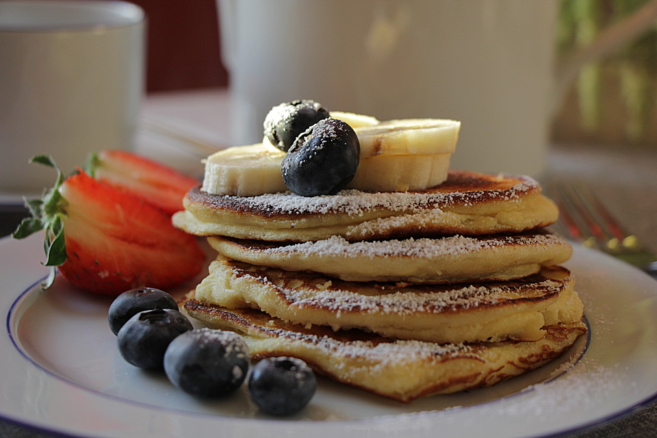 ricotta pancakes rezept mit bild von dialog. Black Bedroom Furniture Sets. Home Design Ideas