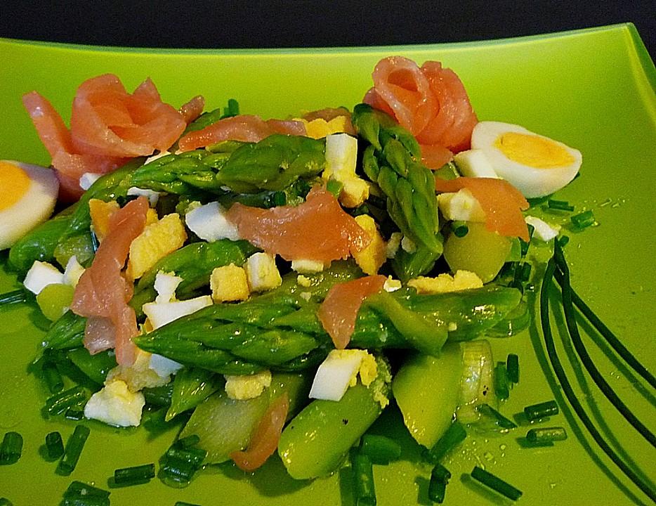 Grüner Spargelsalat Mit Ei