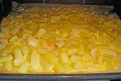 Rhabarber Blechkuchen 16