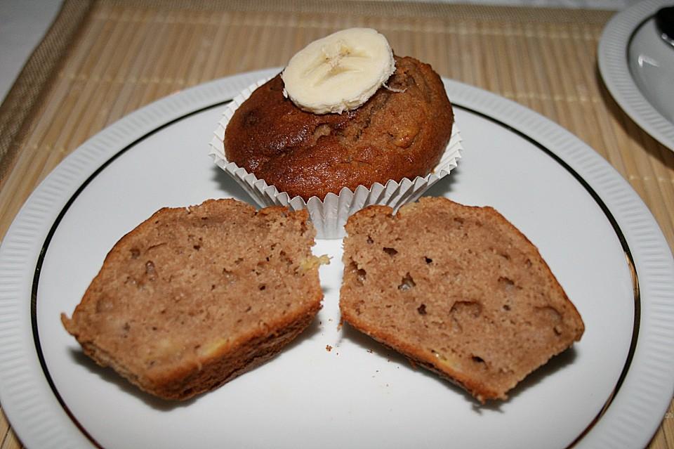 schoko bananen muffins rezept mit bild von kaddiey. Black Bedroom Furniture Sets. Home Design Ideas