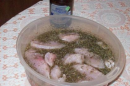 Einfache Bier - Marinade mit Grillfleisch