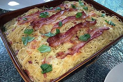Spaghetti-Auflauf mit Speck 10