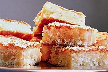 Weiße Brownies mit Marzipan