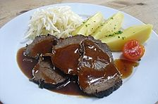 Rinderbraten mit Rotweinsauce