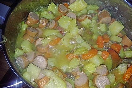 Kartoffelsuppe mit Milch