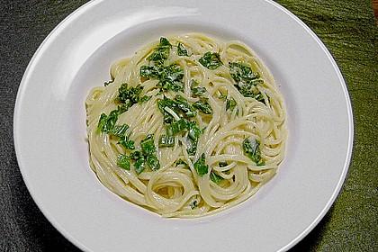 Spaghettini mit Ziegenkäse, Rucola und Limetten 2