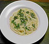 Spaghettini mit Ziegenkäse, Rucola und Limetten (Bild)