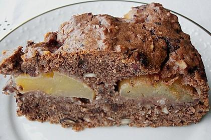 Schoko - Apfelkuchen mit Amaretto und Haferflocken 1