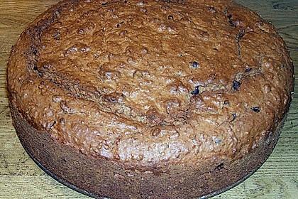 Schoko - Apfelkuchen mit Amaretto und Haferflocken 2