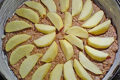 Schoko - Apfelkuchen mit Amaretto und Haferflocken 6